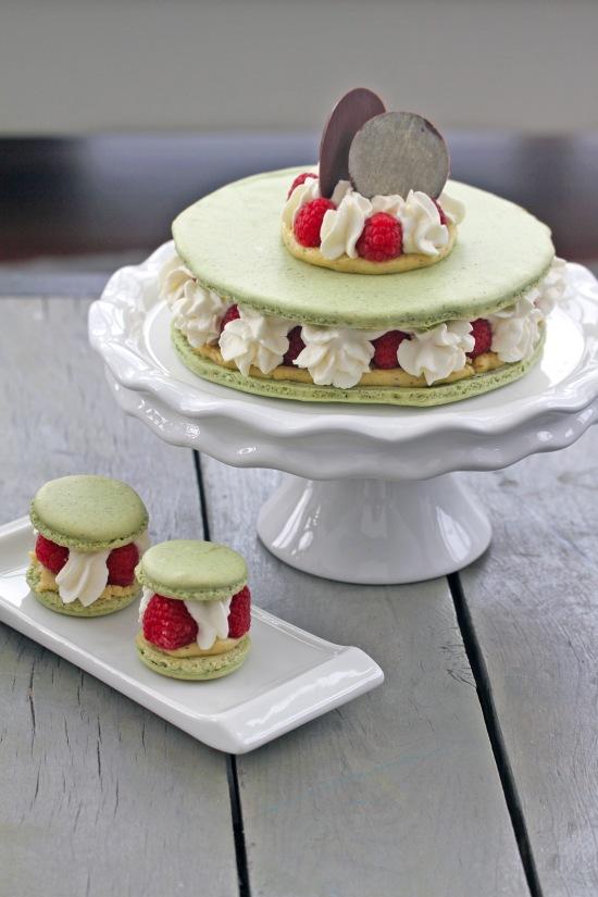Pistachio Raspberry Macaron Cake21.JPG